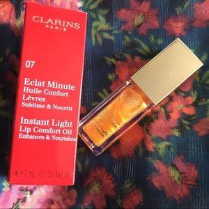 New! Clarins Lip Oil - Honey Glam